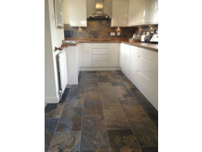 Slate Tile Kitchen