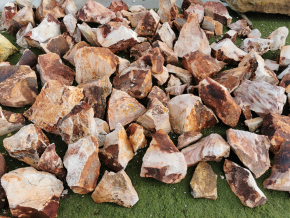 Ryolit ružový - kusový kameň pr. 10-40 cm