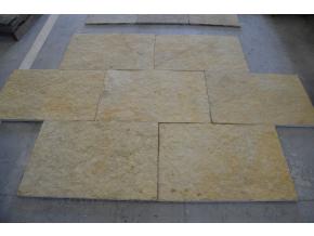 Vápenec Palomino yellow 90 cm x 60 cm x 2,2 cm, prírodný povrch- rezané hrany