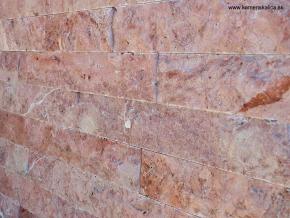 Travertín - kamenný obklad 4xrezaný Red