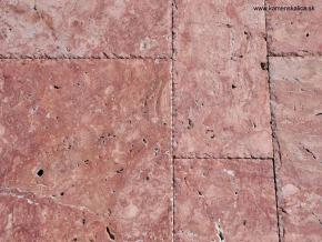Travertín francúzsky vzor Red hr. 1, 2 cm