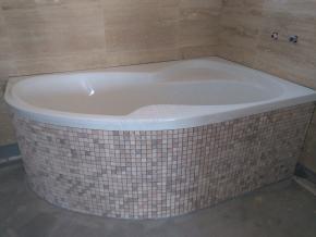 Travertínová mozaika Classic/Noce 2,3cm x 2,3cm