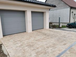 Travertin Noce 30x15cm obrubník