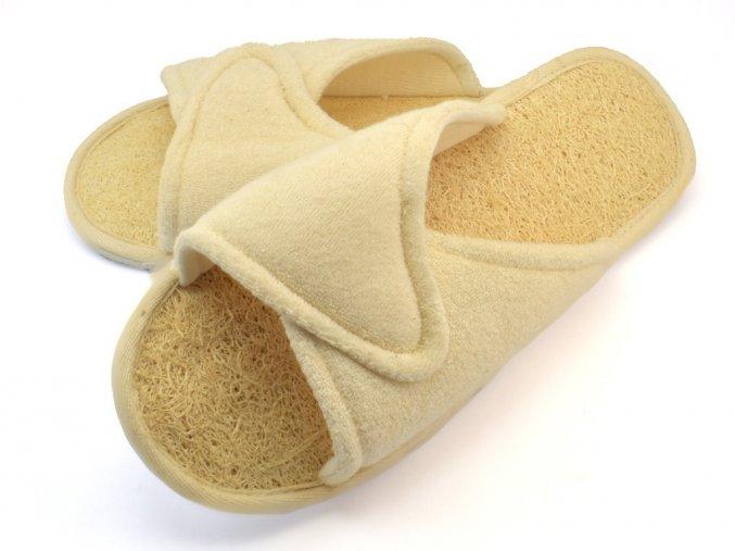 Pantofle lufa + froté č. 39-40