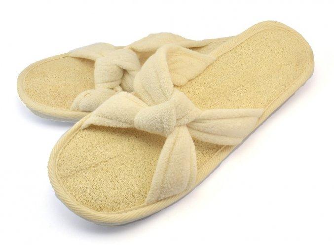 Pantofle lufa + froté č. 39-40 (X)