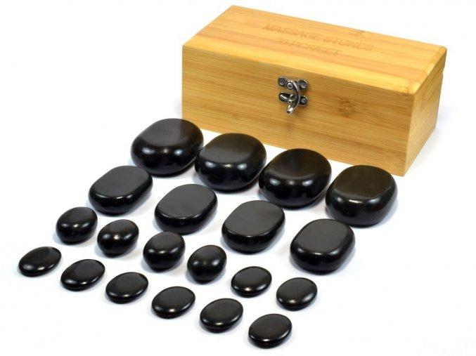 Lávové masážní kameny sada 20ks
