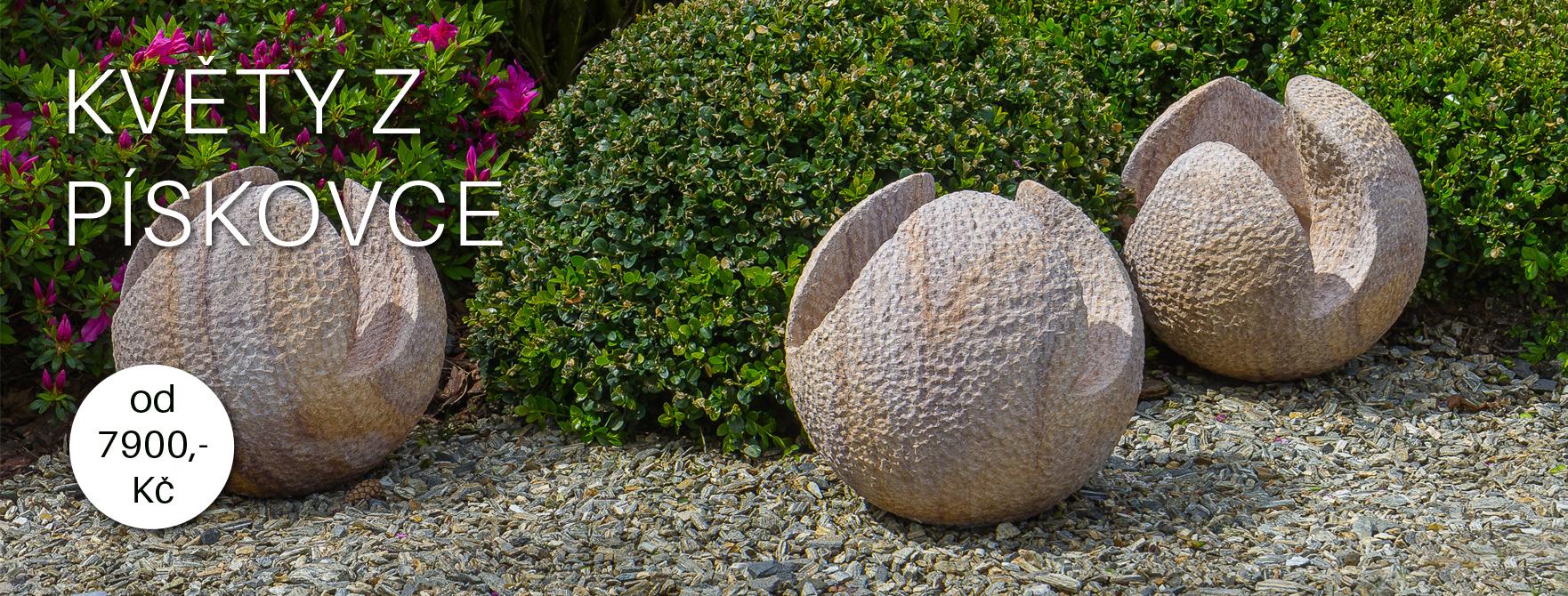 pískovcové květy - dekorace z kamene