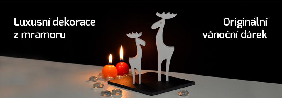 vánoční dekorace - dárek z kamene