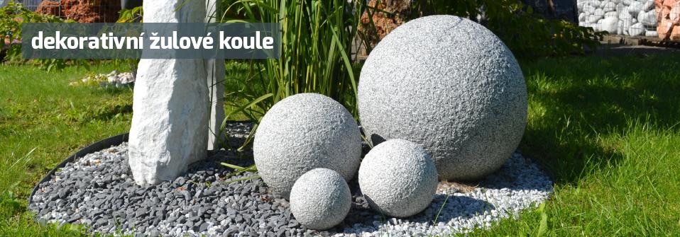 koule z kamene - dekorace přírodní