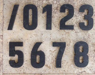 Čísla na dům