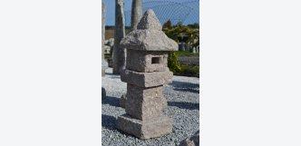 okrasný kámen do zahrady lampa Takenosho růžovošedá žula