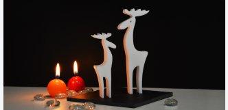 Luxusní vánoční dekorace pár sobů z mramoru