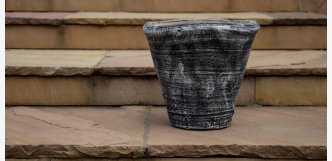 Květináč Delux 35 cm černý venkovní