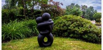 socha z kamene do zahrady - milenci