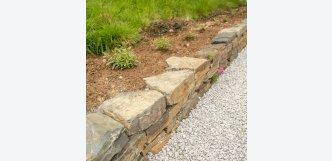 suchá zeď z kamene břidlice Wall Ardesia