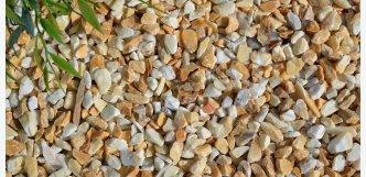 Siena drť žluté kamínky na zahradu