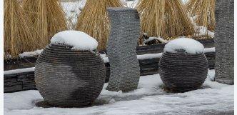 Fontána ellipse z kamene 75cm