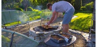 černý kámen grilovací