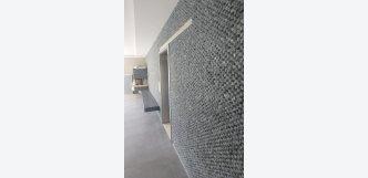 mozaika z mramoru černá