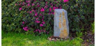 kamenná fontána břidlice