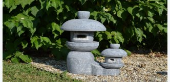 japonska lampa z kamene - dvojče