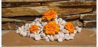 koralo valounky - oranžové kameny okrasné