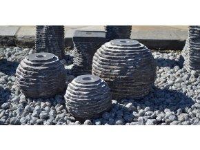Set 3 vápencových fontán