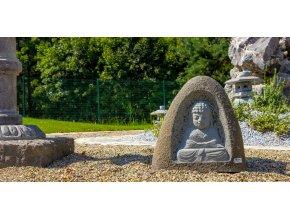 Buddha do zahrady - čedič  + doprava zdarma