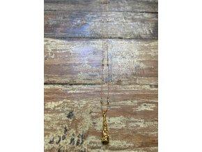 Řetízek z hedvábné šňůrky se zlaceným přívěskem (Ag925)