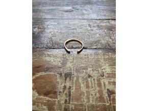 Minimalistický prstýnek zlacený růžovým zlatem Ag925