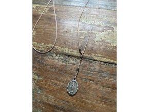 Pohyblivý náhrdelník se stříbrnou madonkou Ag925