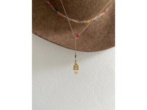 Pohyblivý náhrdelník se stříbrným křížkem Ag925