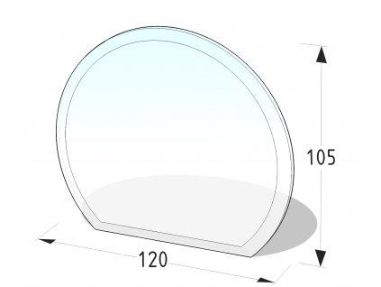 Skleněná podložka pod kamna část. kruh
