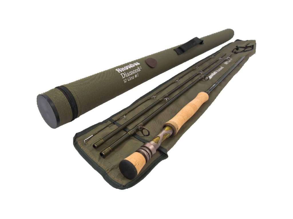 Snowbee Prut Diamond 2 Fly Rod 9ft 6ins, #7, 4-dílný