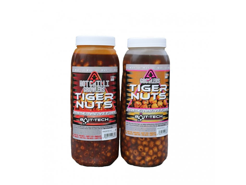 Bait-Tech Tygří ořech Hot Chilli Growlers Tiger Nuts Jar 2,5lit