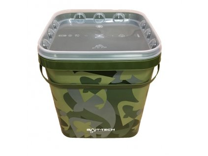 Bait-Tech Kbelík s víkem Camo Bucket and Lid 5 lit
