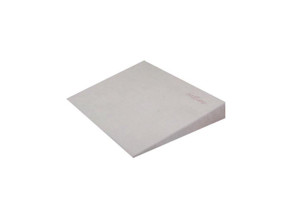 Kojenecký semiškový polštář - klín s větracími otvory šedý - šedá