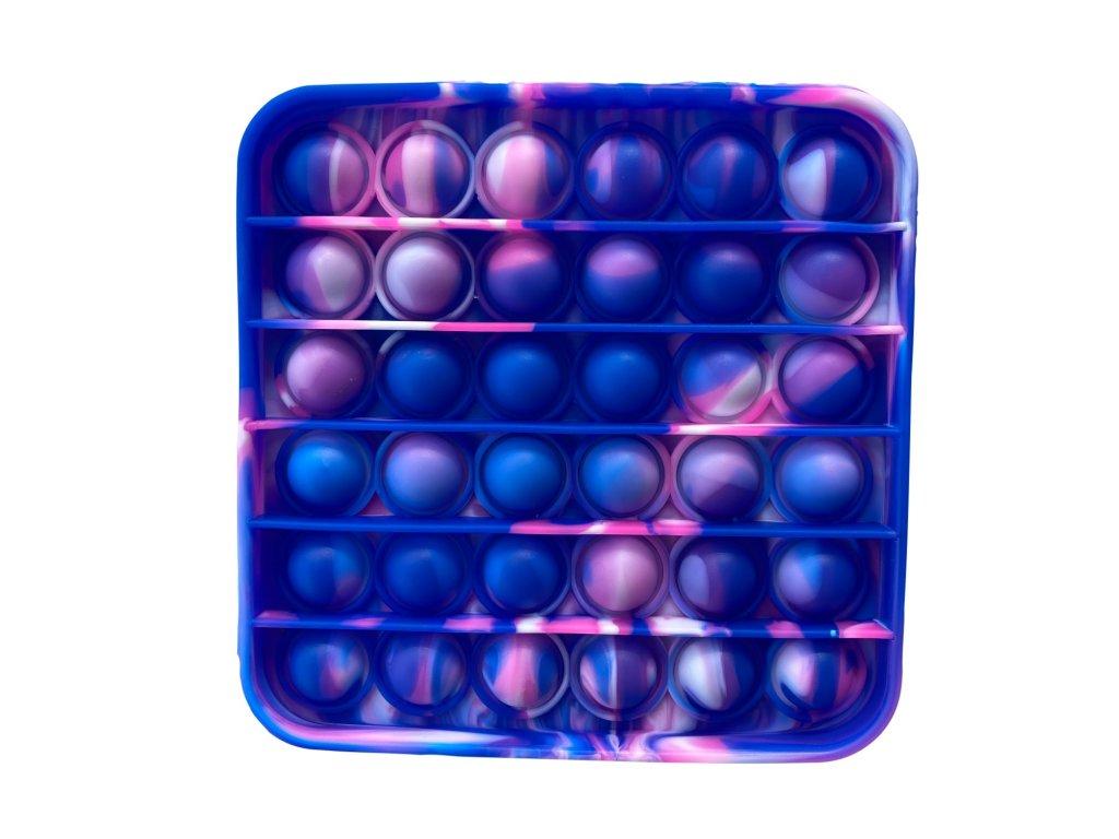 Pop It antistresová hračka čtverec fialovomodrá