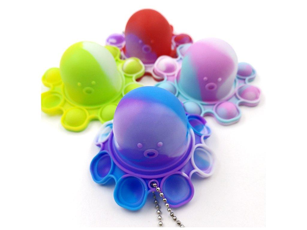 Pop It Antistresová hračka klíčenka barevná trio