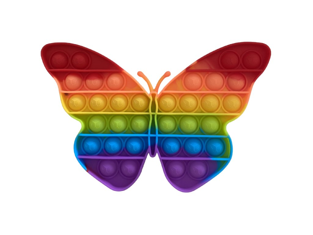 Pop It Rainbow antistresová hračka motýl