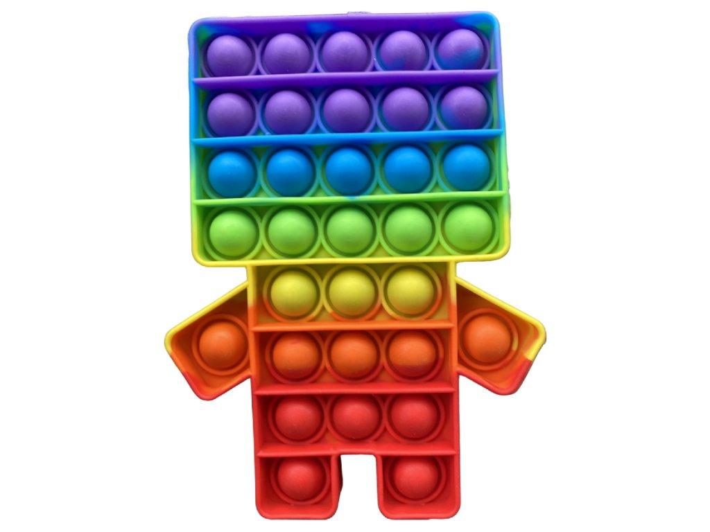 Pop It Rainbow antistresová hračka Minecraft