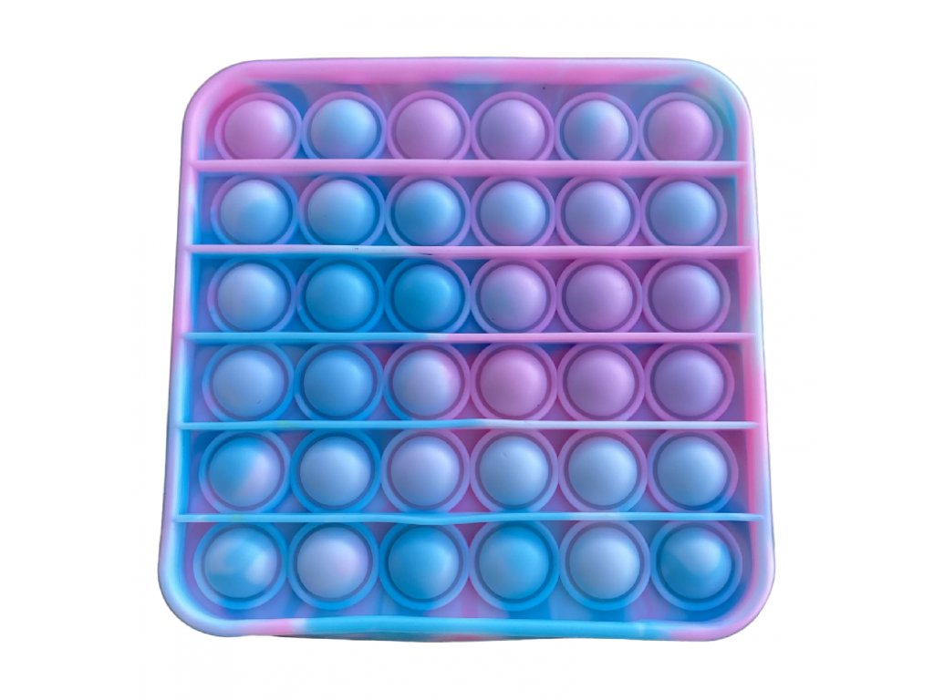 Pop It antistresová hračka čtverec tyrkysovorůžový