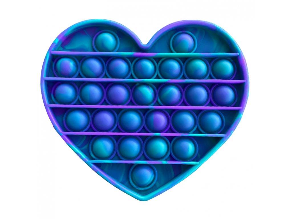 Pop It antistresová hračka srdce fialovozelený
