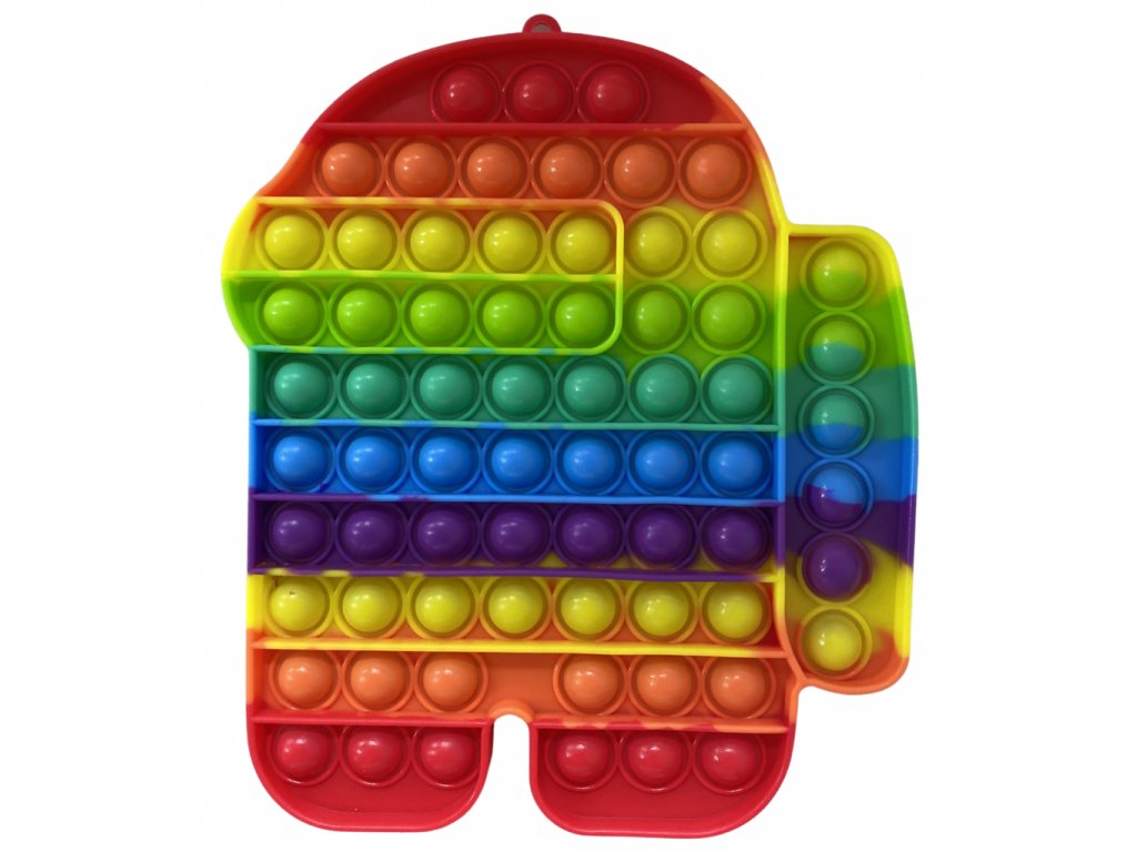 Pop It Rainbow antistresová hračka Among Us JUMBO 20 cm