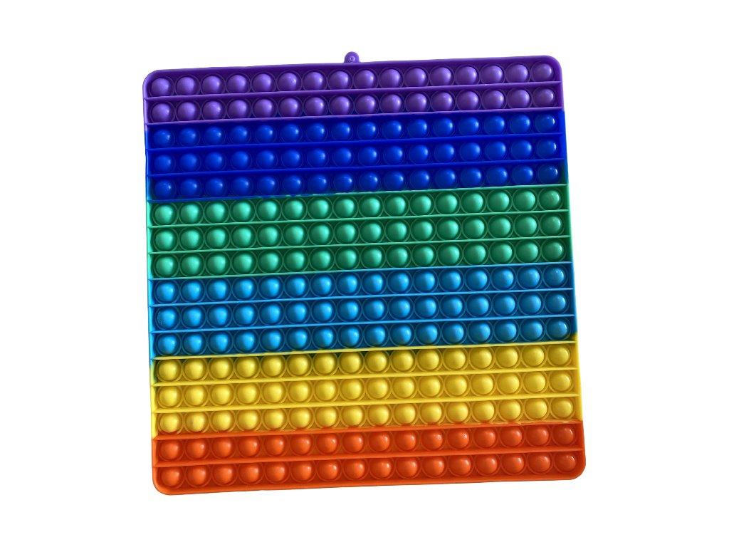 Pop It Rainbow antistresová hračka čtverec JUMBO XXL 30 cm
