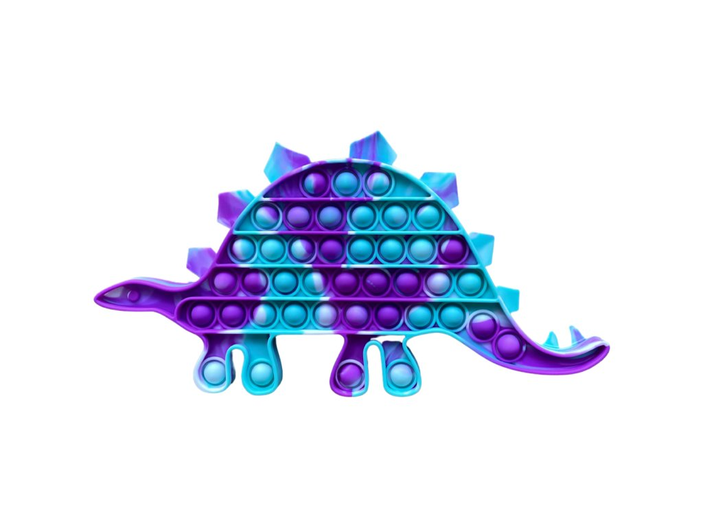 Pop It antistresová hračka dinosaurus 2 JUMBO fialovozelený