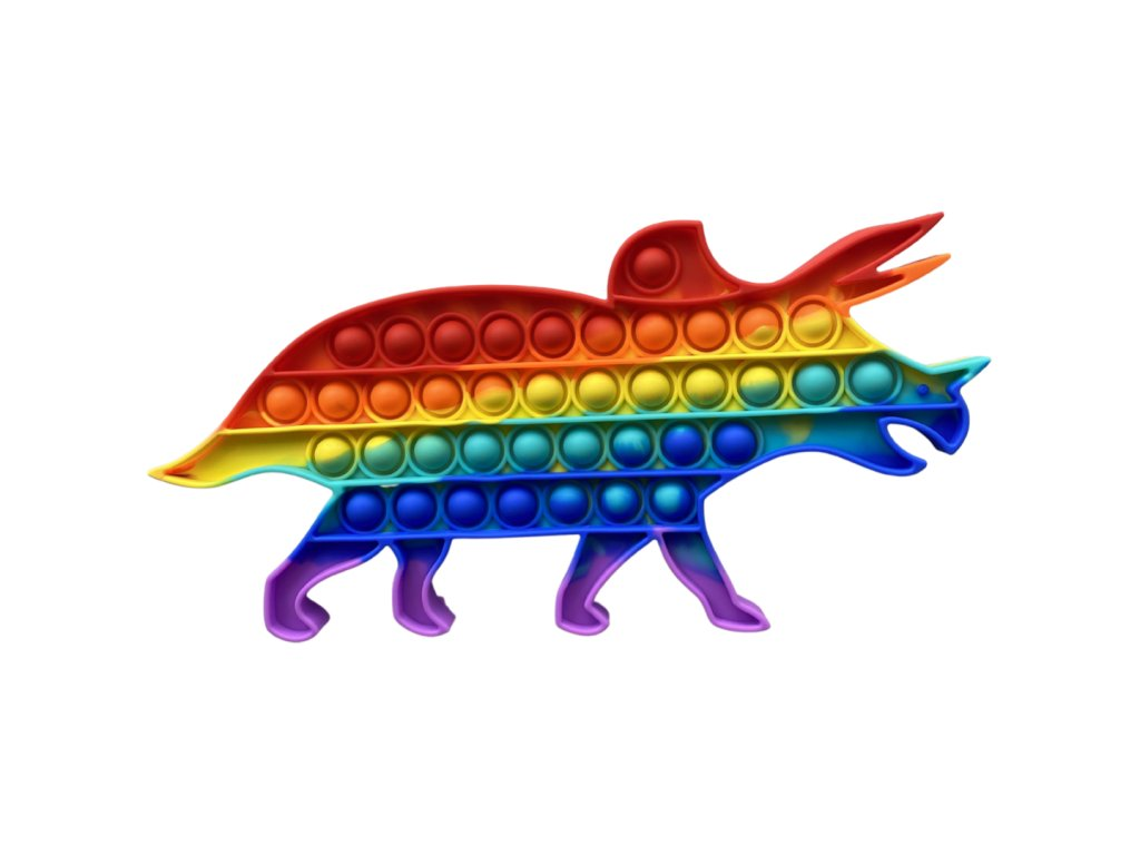 Pop It Rainbow antistresová hračka dinosaurus 3 JUMBO