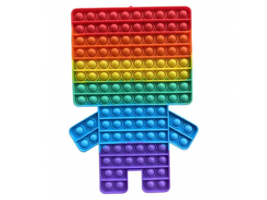 Pop It Rainbow antistresová hračka Minecraft JUMBO XXL 30 cm