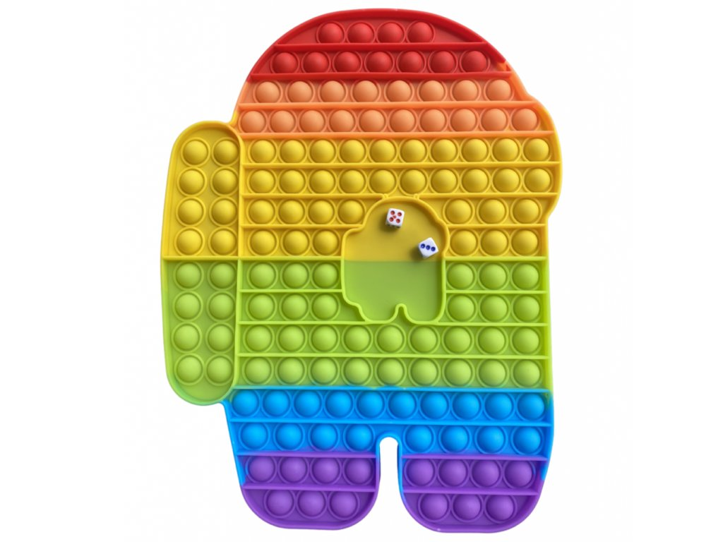 Pop It Rainbow Desková antistresová hračka Among Us JUMBO XXL 30 cm