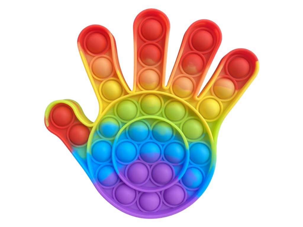 Pop It Rainbow antistresová hračka ruka